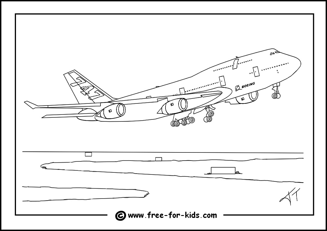 Aeroplane Colouring Pages - Free Planes Printables