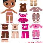 African Amercian Girl With A Set Of Summer Clothing | Free Printable   Free Printable Dress Up Paper Dolls
