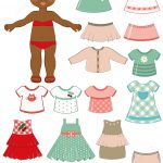 African American Girl Child Paper Doll With Clothing Set From Dress   Free Printable Dress Up Paper Dolls