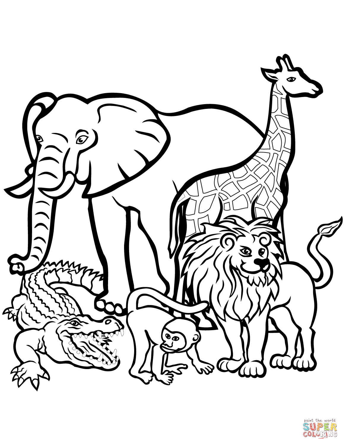 African Animals Coloring Page | Free Printable Coloring Pages - Free Coloring Pages Animals Printable