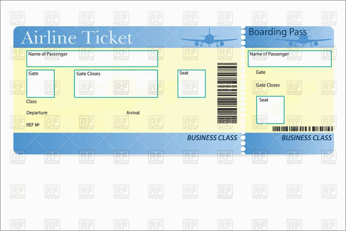 Airline Ticket Invitation Template Free Download Wonderfully - Free Printable Airline Ticket Template
