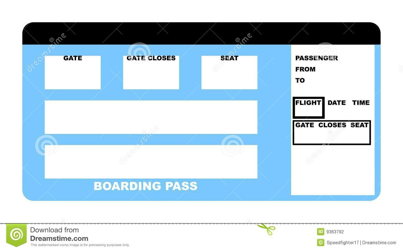 Airline Ticket Stock Illustration. Illustration Of Passenger - 9363792 - Free Printable Airline Ticket Template
