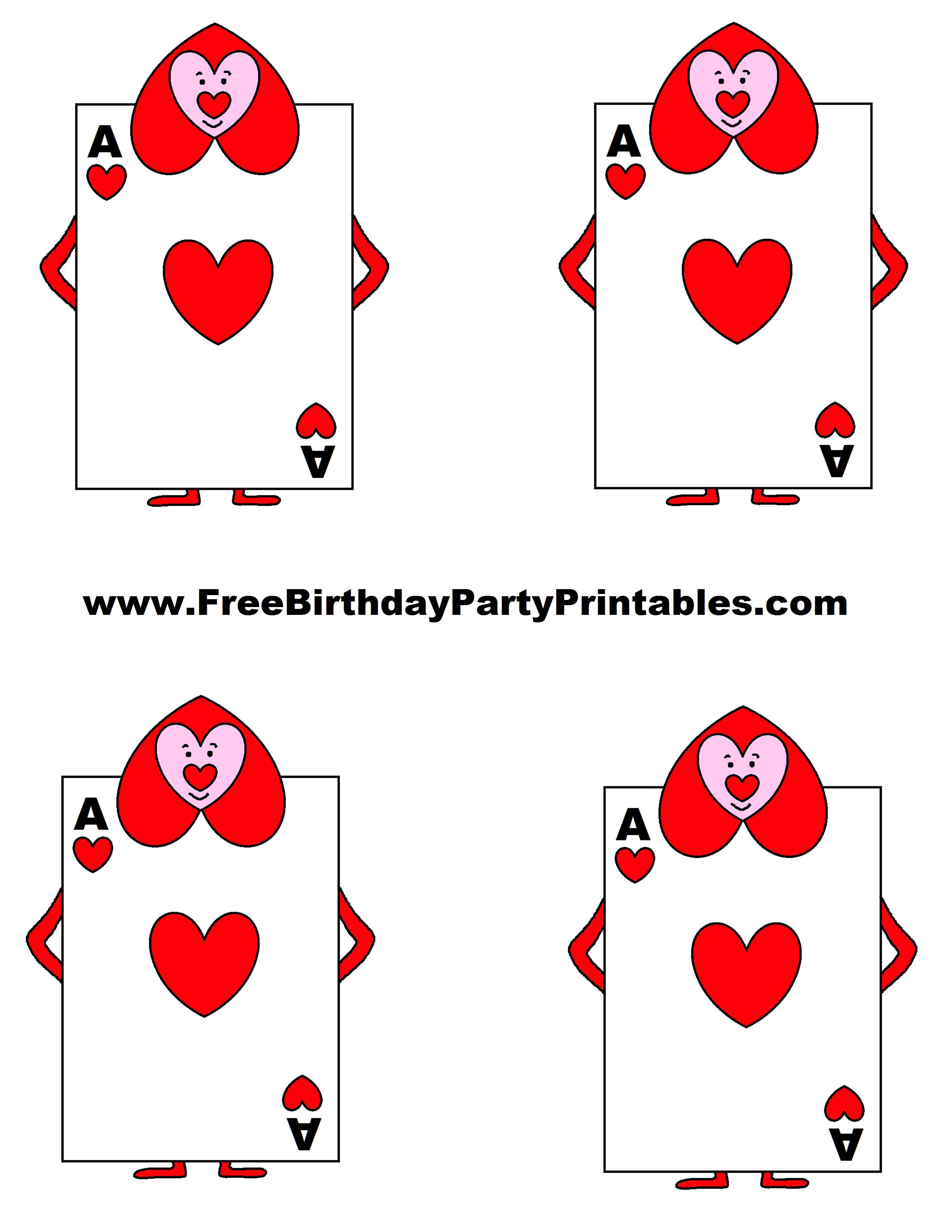Alice In Wonderland Card Soldiers Printable Cutout | Alice In - Alice In Wonderland Cupcake Toppers Free Printable