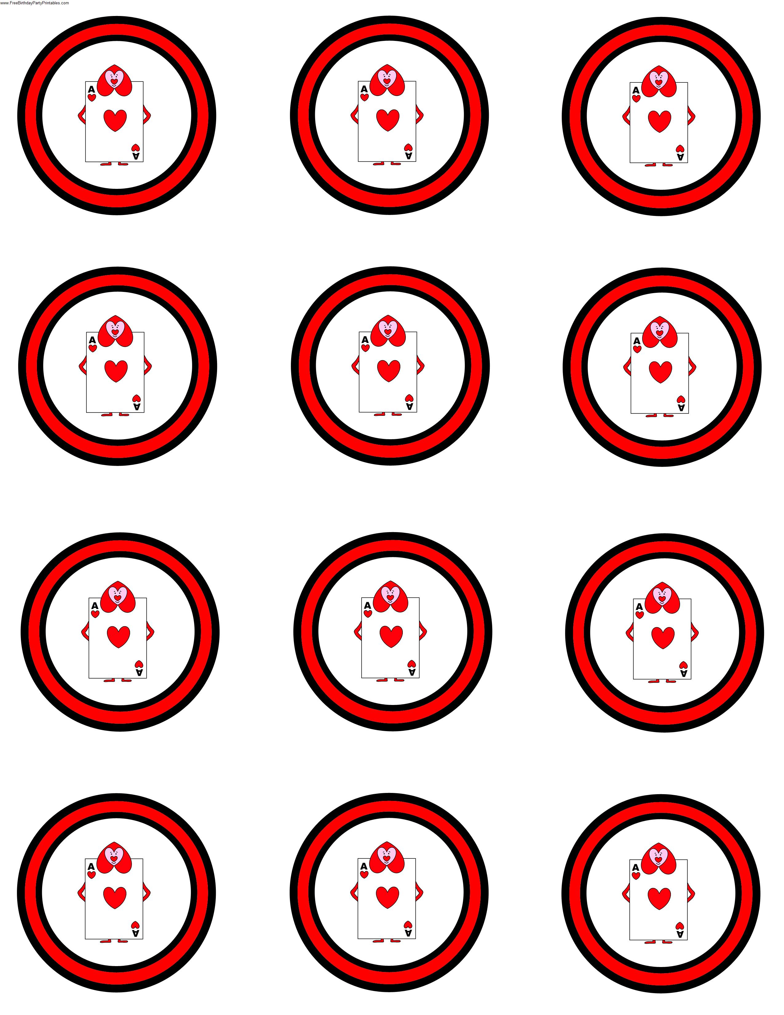 Alice In Wonderland Card Soldiers Printable Cutout - Alice In Wonderland Cupcake Toppers Free Printable