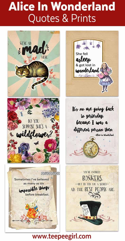 Alice In Wonderland Printables - Teepee Girl - Alice In Wonderland Free Printables