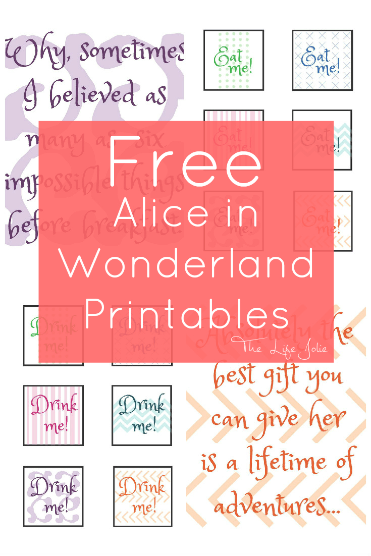 Alice In Wonderland Signs And Free Printables | The Life Jolie - Free Printable Alice In Wonderland Eat Me Tags