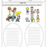 Alike And Different Worksheet   Free Esl Printable Worksheets Made   Free Printable Same And Different Worksheets
