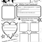 All About Me {Free Spanish Printable} | Discovering The World   Free Printable All About Me Poster