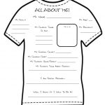 All About Me Template Worksheet | 1St Days Of School | All About Me   Free Printable All About Me Poster