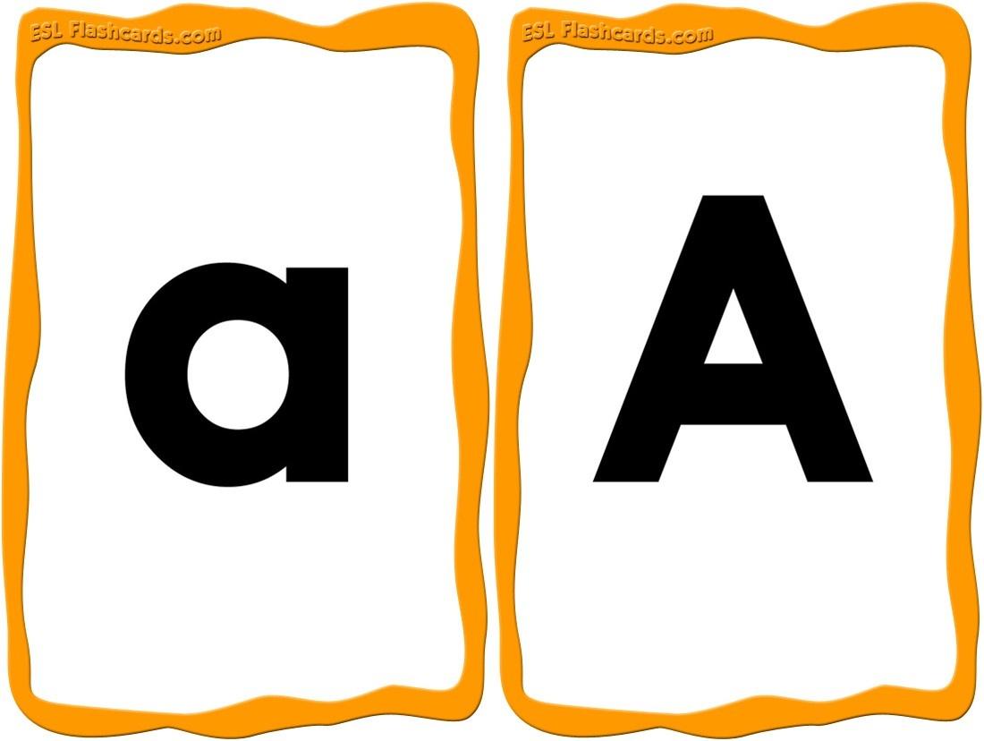 Alphabet Cards - 52 Free Printable Flashcards - Free Printable Abc Flashcards