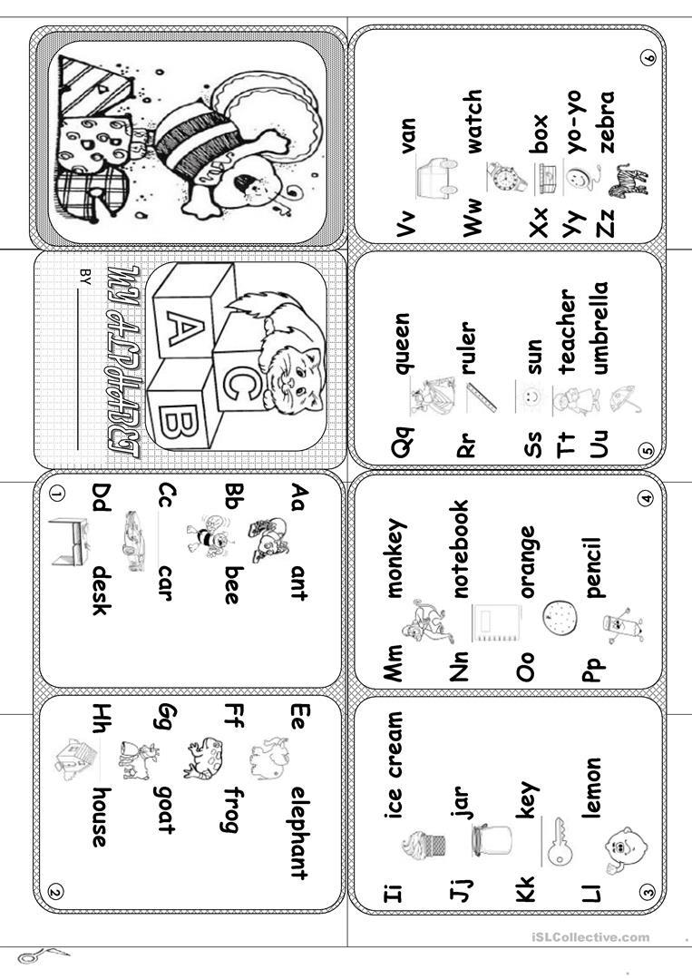 Alphabet Mini Book Worksheet - Free Esl Printable Worksheets Made - Free Printable Abc Mini Books
