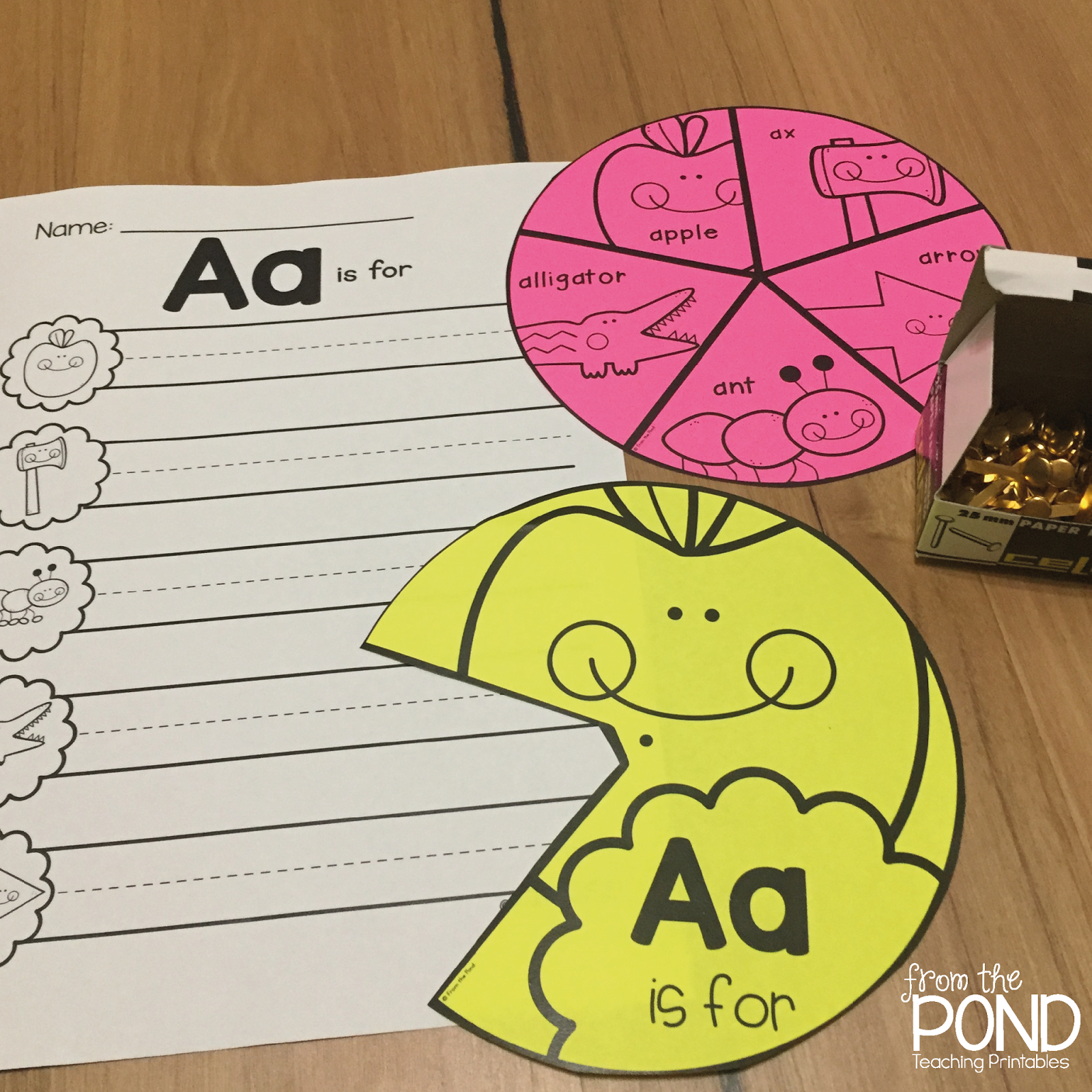 Alphabet Wheels - Spin And Write! | From The Pond - Free Printable Alphabet Wheels