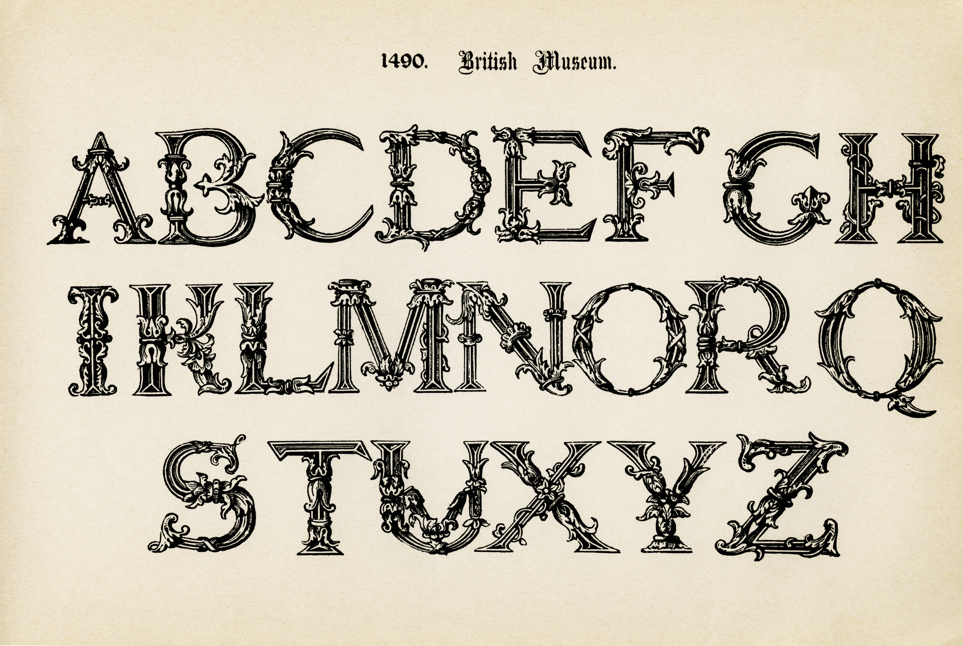 Alphas And Monograms Archives - Old Design Shop Blog - Free Printable Old English Letters