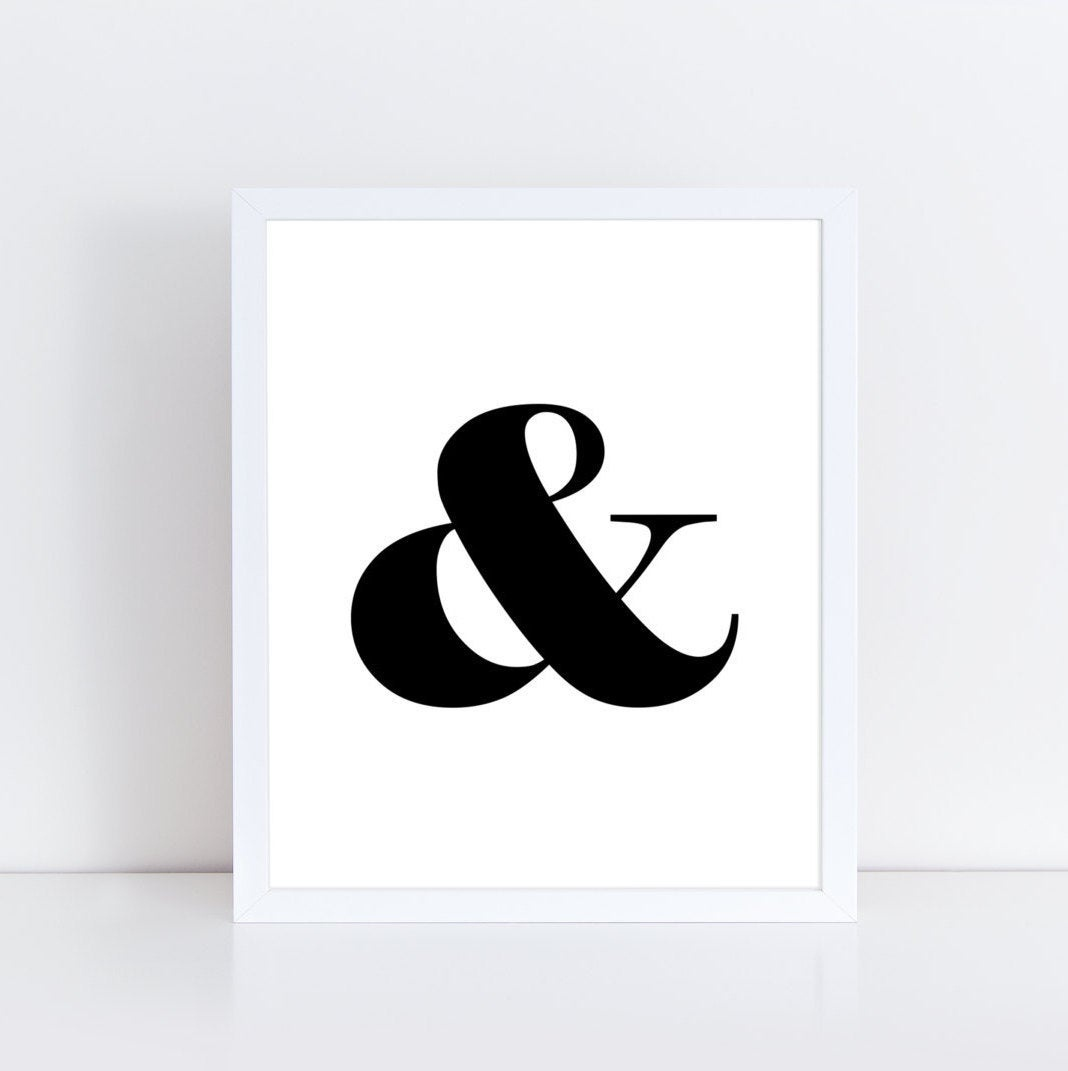 Ampersand Printable Wall Art / Ampersand Sign / Home Decor | Etsy - Free Printable Ampersand Symbol