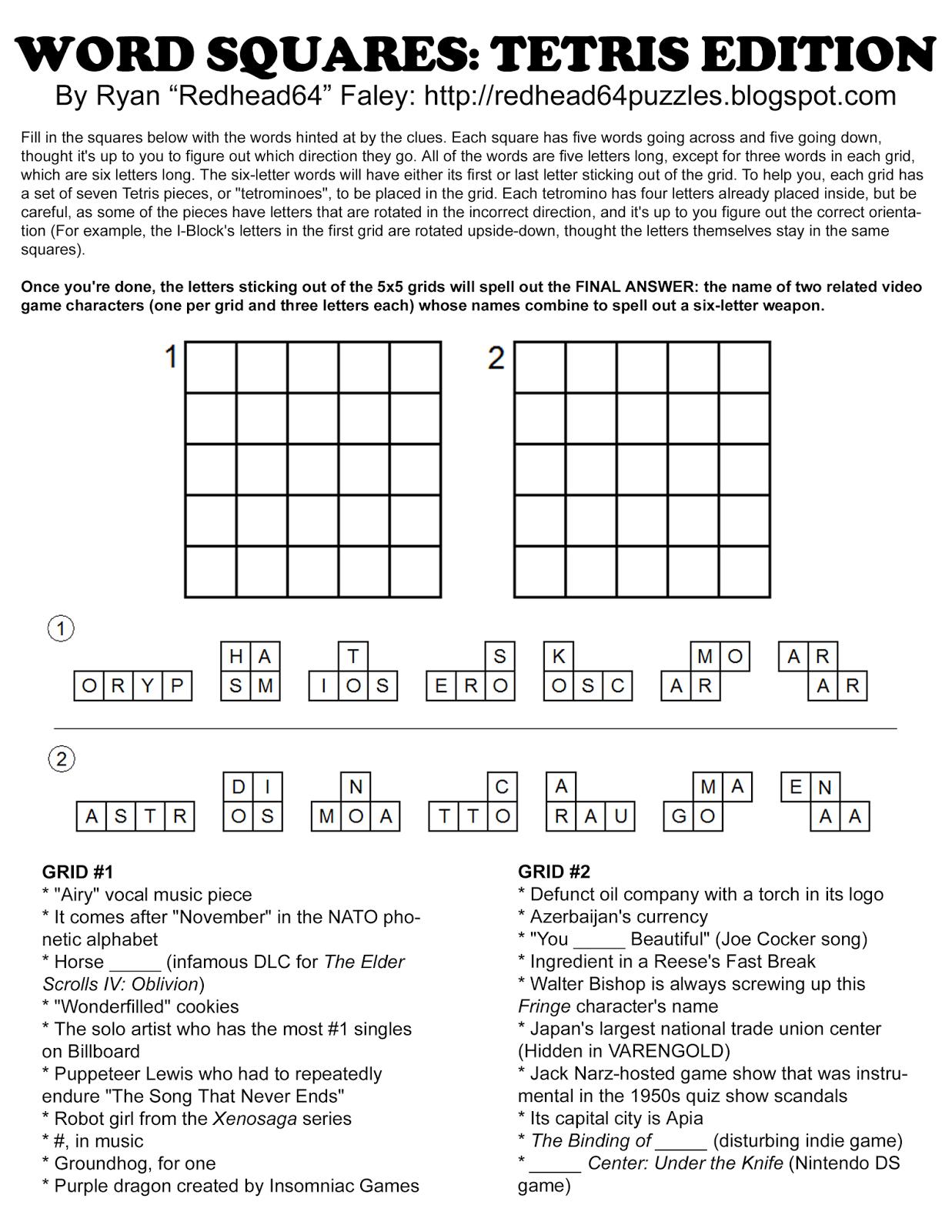 Anagram Magic Square Puzzles Related Keywords & Suggestions - Free Printable Anagram Magic Square Puzzles