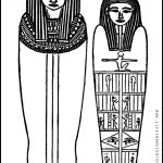 Ancient Egypt Sarcophagus Coloring Page (Man And Woman Married Mummy   Free Printable Sarcophagus