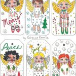 Angel Gift Tags (Free Printable) | Christmas | Free Printable Gift   Free Printable Angel Gift Tags