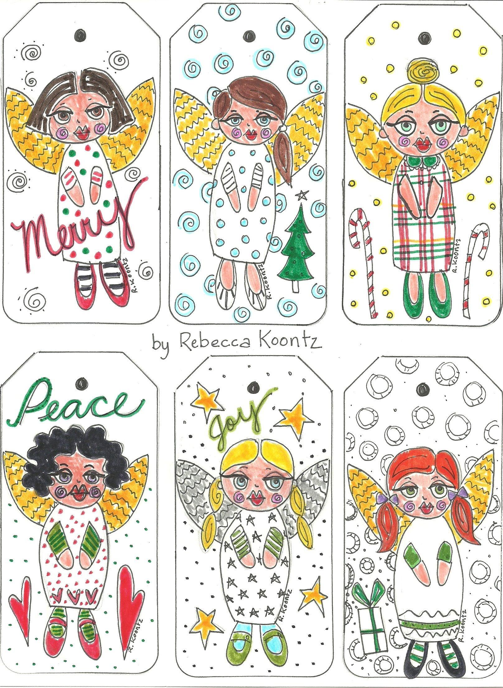 Angel Gift Tags (Free Printable) | Christmas | Free Printable Gift - Free Printable Angel Gift Tags