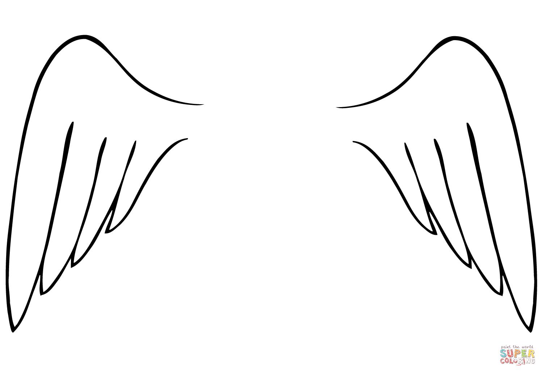 Angel Wings Coloring Page | Free Printable Coloring Pages - Angel Wings Template Printable Free
