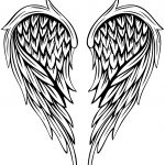 Angel Wings Tattoo Coloring Page | Free Printable Coloring Pages   Angel Wings Template Printable Free