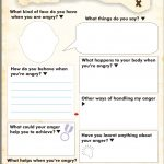 Anger Map Kids Worksheet Free Printable | Anger Management   Free Printable Anger Management Activities