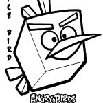 Angry Birds Printables | Angry Birds Space Ice Bird Kids Coloring   Free Printable Angry Birds Space Coloring Pages