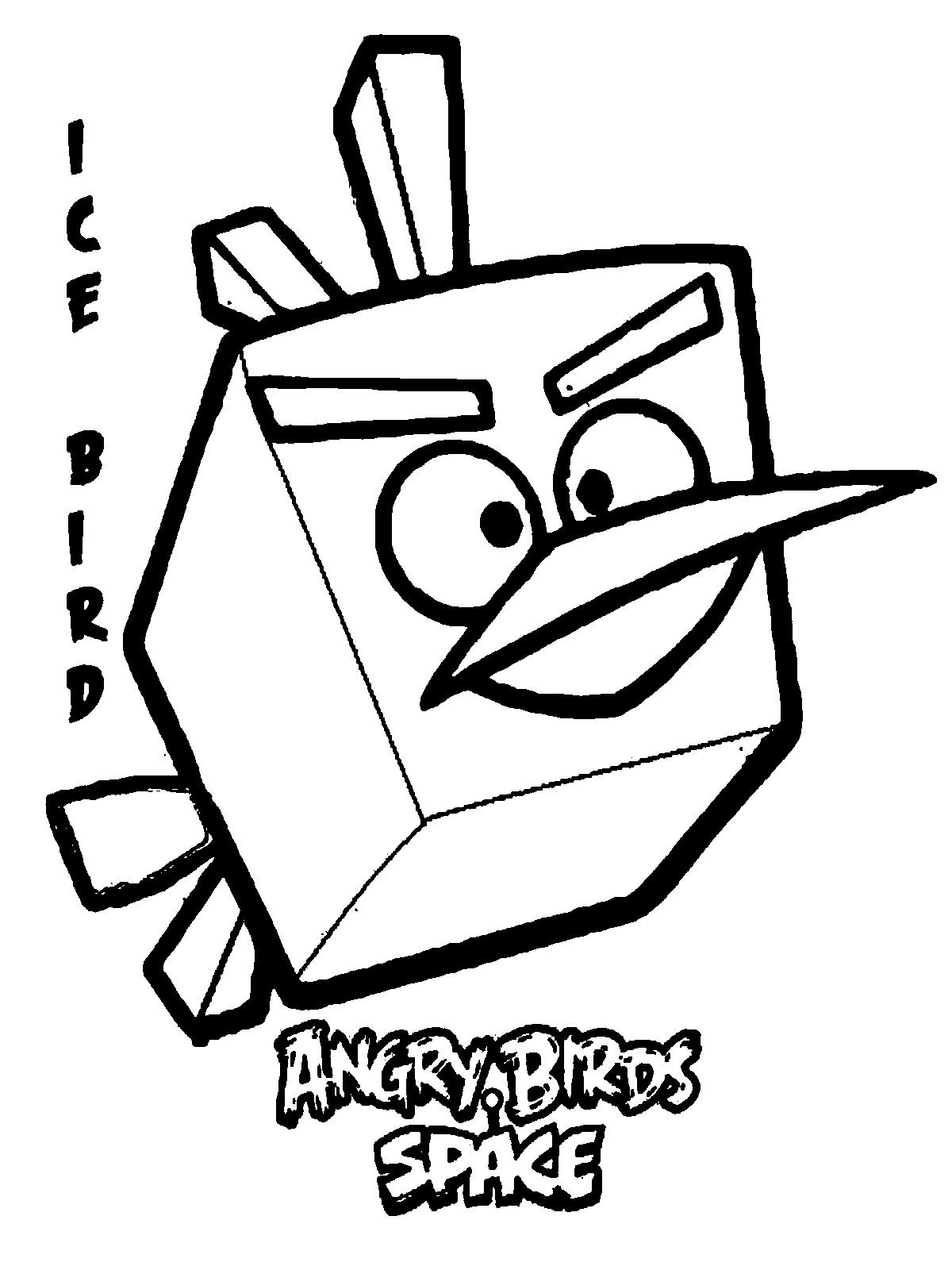 Angry Birds Printables | Angry Birds Space Ice Bird Kids Coloring - Free Printable Angry Birds Space Coloring Pages