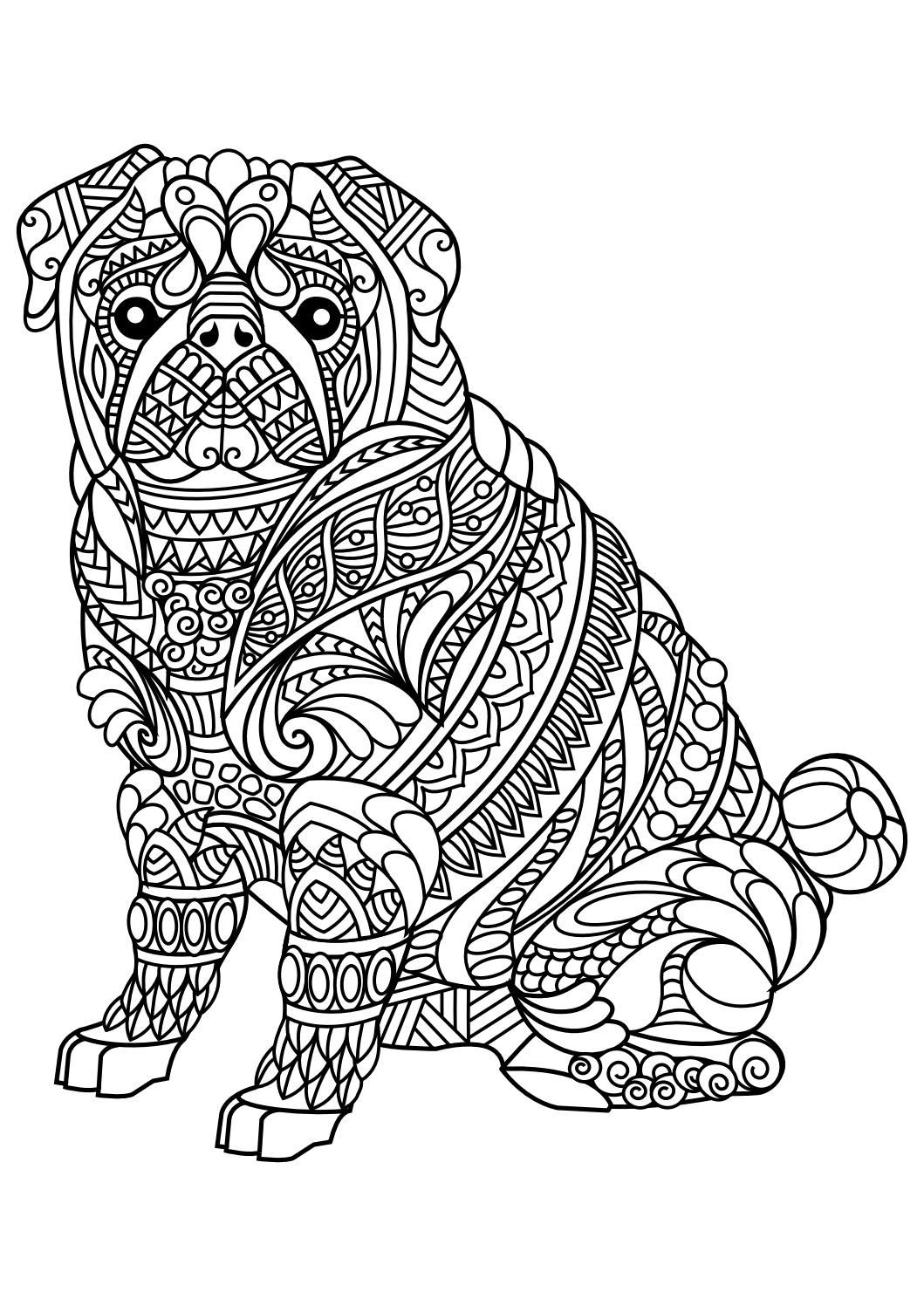Animal Coloring Pages Pdf | Coloring - Animals | Dog Coloring Page - Free Printable Animal Coloring Pages