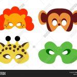 Animal Mask Printable Image & Photo (Free Trial) | Bigstock   Animal Face Masks Printable Free