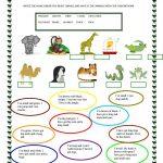 Animals | Free Esl Worksheets | Teachers Resources | Animal   Free Printable Esl Worksheets