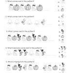 Another Thanksgiving Patterns Worksheet (K 2Nd) | Squarehead Teachers   Free Printable Thanksgiving Math Worksheets For 3Rd Grade