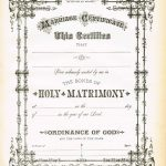 Antique Certificate Of Marriage Printable | English Wedding Project   Fake Marriage Certificate Printable Free