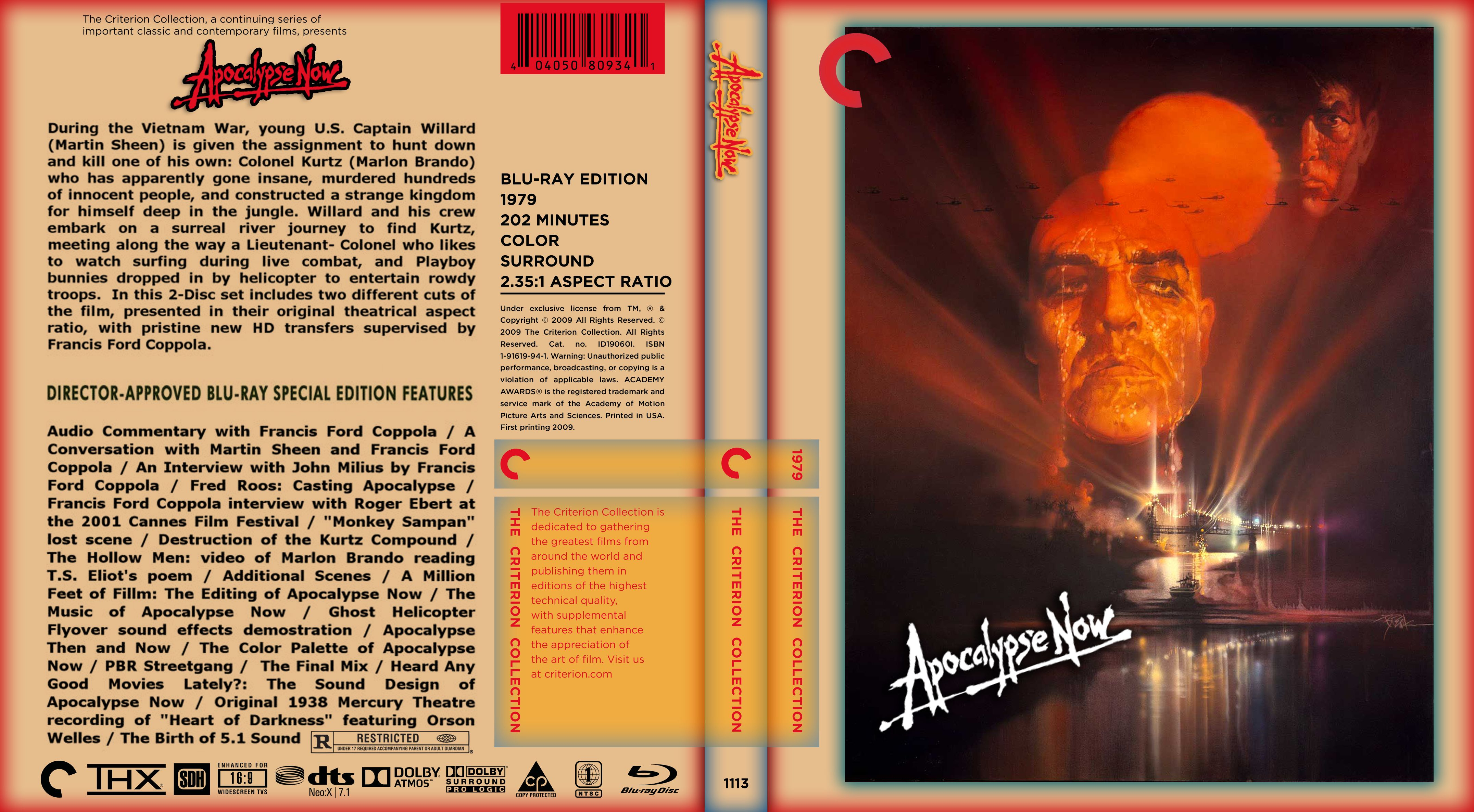 Apocalypse Now Custom Blu-Ray Cover — Steemit - Free Printable Blu Ray Covers