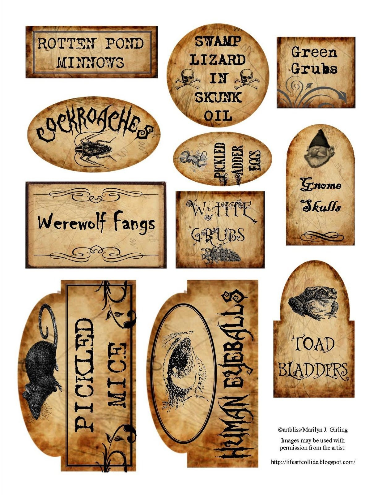 Apothecary Jar Labels For Download … | Holiday | Halloween - Free Printable Halloween Bottle Labels