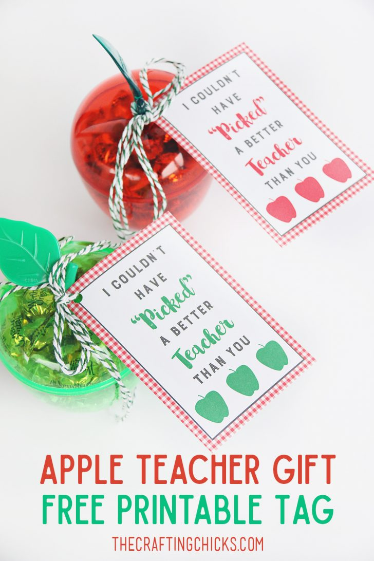 Teacher Gift Tags Printable Free