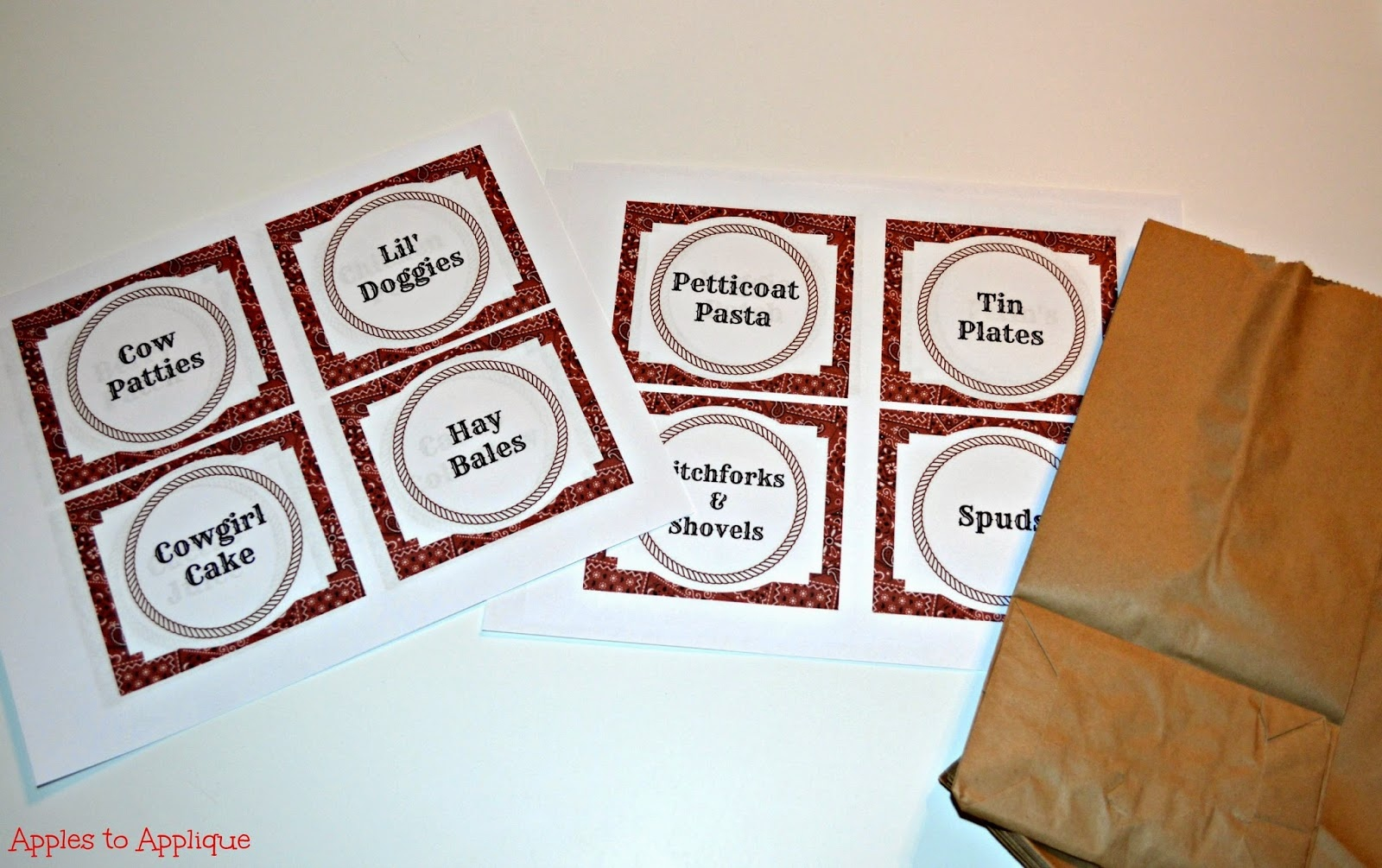 Apples To Applique: Western Party: Food Labels {Free Printables} - Free Printable Western Labels