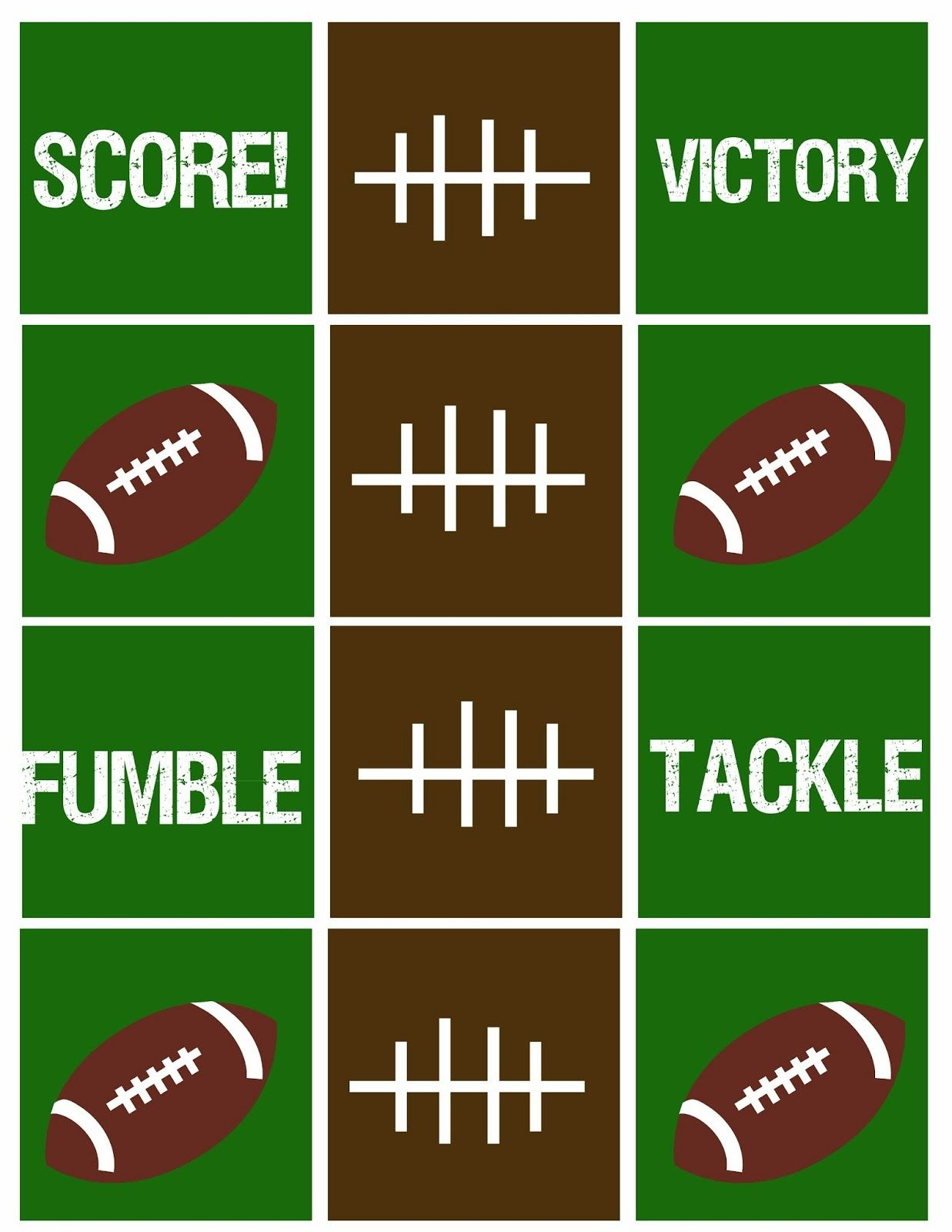 Are You Ready For Some Football??? Free Football Party Printables - Free Football Printables