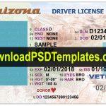 Arizona Driver License Psd [Editable Az Template]   Free Printable Fake Drivers License