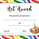 Art Award Certificate (Free Printable) | Art | Elementary Art, Free   Free Printable Reward Certificates