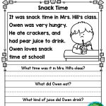 August Reading Comprehension Passages For Kindergarten And First   Free Printable Read Naturally Passages