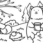 Autumn Animals Coloring Page | Free Printable Coloring Pages   Free Printable Coloring Pages Fall Season