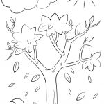 Autumn Tree Coloring Page | Free Printable Coloring Pages   Tree Coloring Pages Free Printable