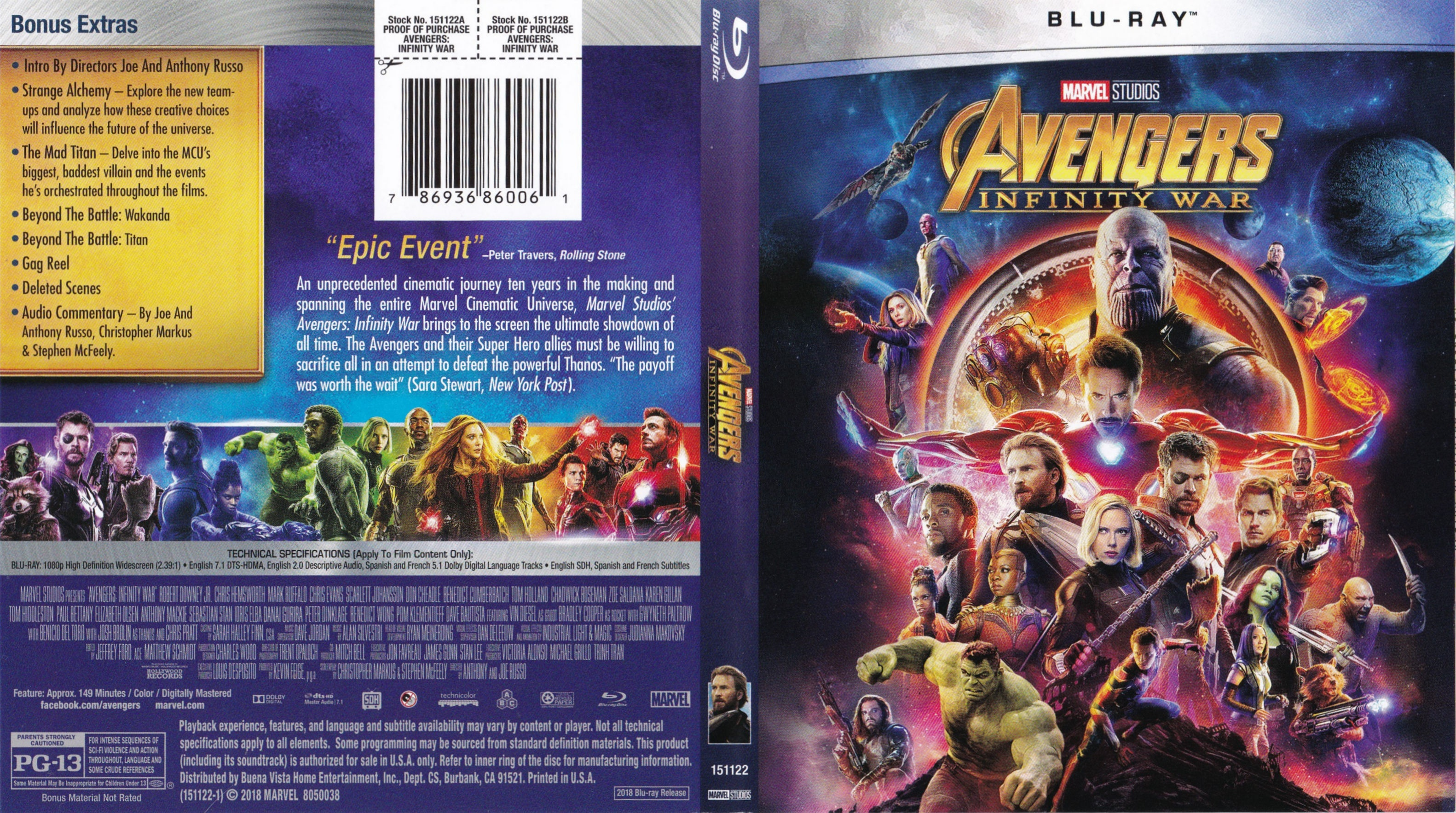 Avengers: Infinity War Bluray Cover - Cover Addict - Free Dvd - Free Printable Blu Ray Covers