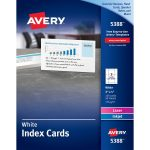 Avery 5388, Avery Laser/inkjet Index Card, Ave5388, Ave 5388   Free Printable Index Cards