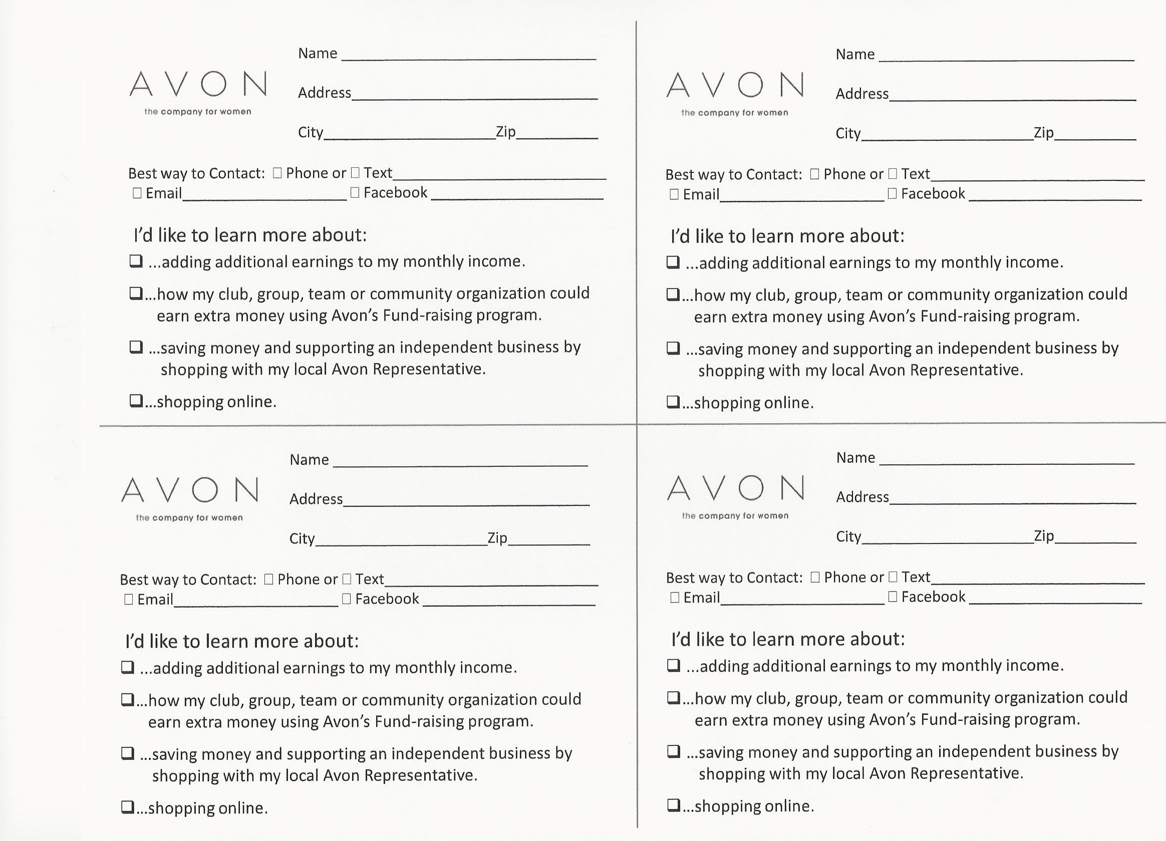 Avon Flyers & Charts | Avon Beauty - Free Printable Avon Flyers