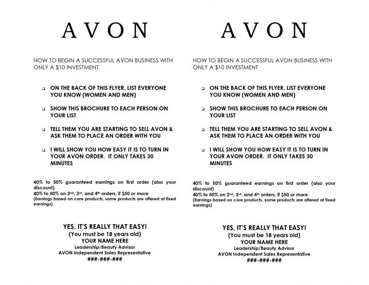 Free Printable Avon Flyers