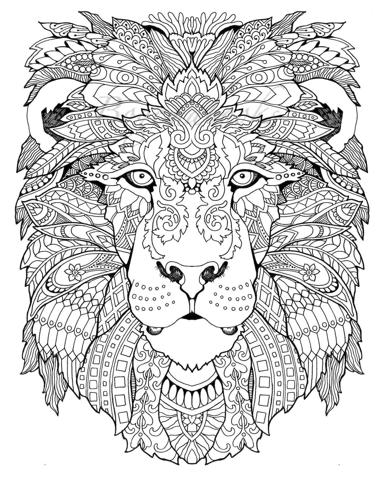 Awesome Animals (Adult Coloring Pages, Coloring Pages Printable - Free Printable Coloring Books Pdf