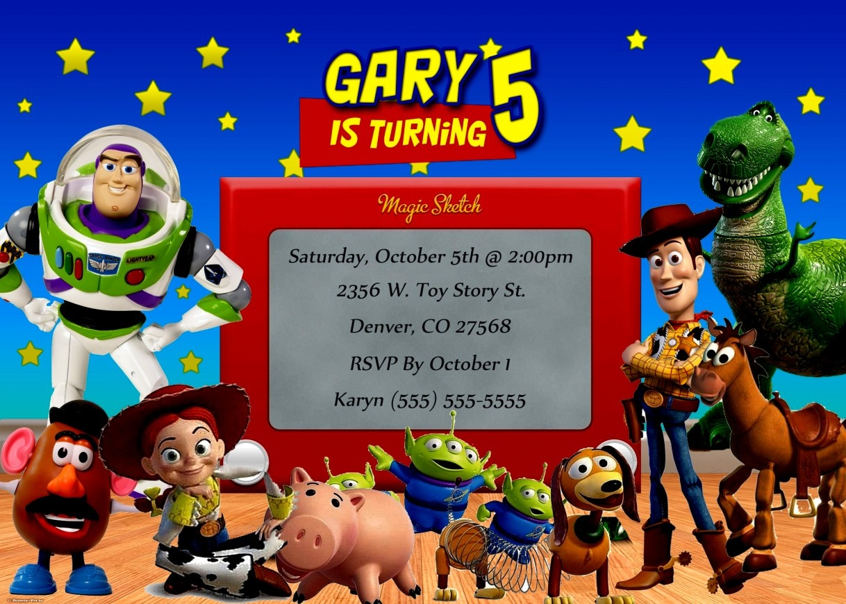 Awesome Toy Story Birthday Invitations Template Free Free Printable - Free Printable Toy Story 3 Birthday Invitations
