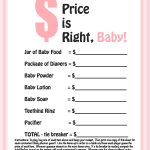 Baby Boy Shower Agreeable Free Printable Baby Shower Games For Large   Free Printable Price Is Right Baby Shower Game