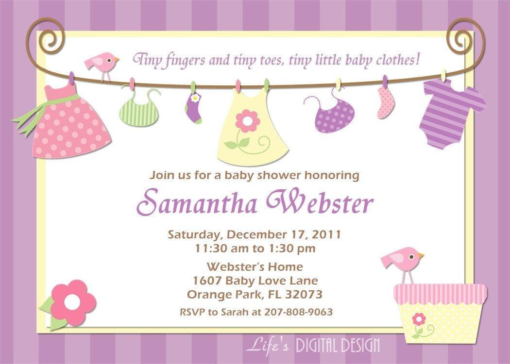 Baby Girl Shower Invitations Free Printables | Baby Choose Frommake - Free Printable Baby Shower Invitations For Girls